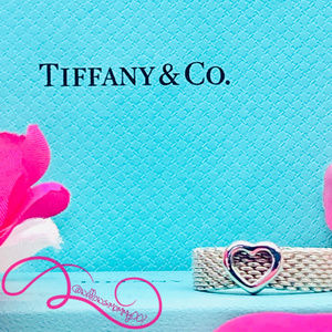 NWOT Tiffany & Co. Somerset Heart Mesh Ring, Sz. 9